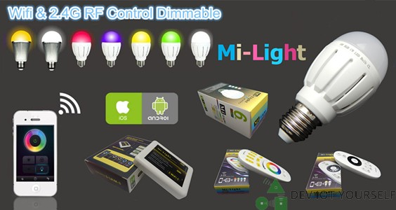 Mi-Light, un éclairage low-cost connectée